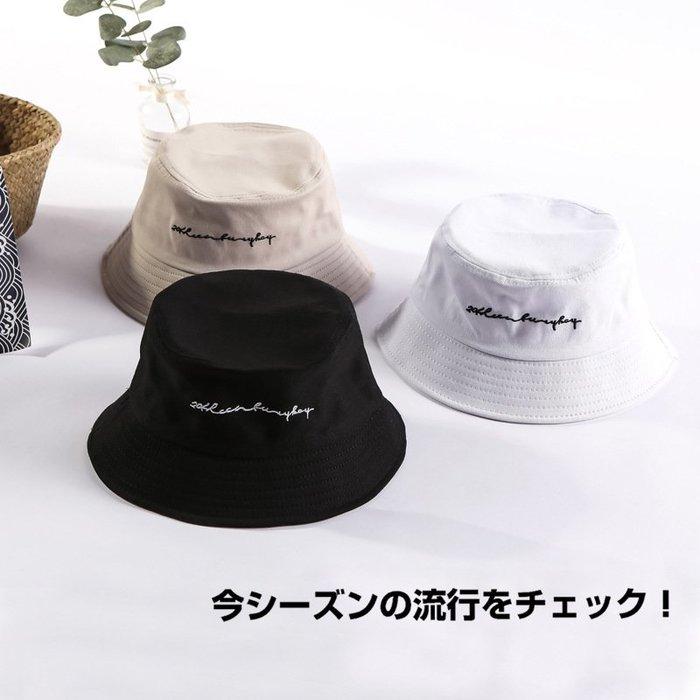 【熱門款】外出字母帽子新款女士行情侶漁夫帽批發時尚戶韓版