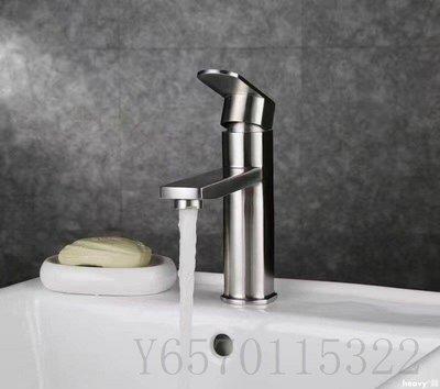 heavy°鋪 浴室櫃面盆龍頭現代簡約式冷熱水龍頭不銹鋼水龍頭AGW125