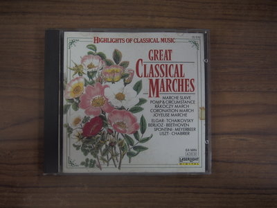 ◎MWM◎【二手CD】柴可夫斯基/Great Classical Marches 光碟美版,無ifpi,透銀少