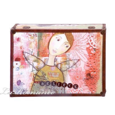 【Heart & Home】Kelly Rae Roberts 心戀家居系列少女木製儲物箱 - believe