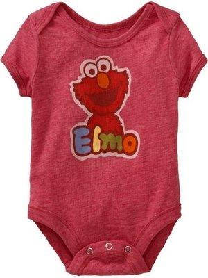 Ginny媽咪【Old Navy】官網正品熱賣斷貨款紅色Elmo短袖包屁衣 12-18M 現貨
