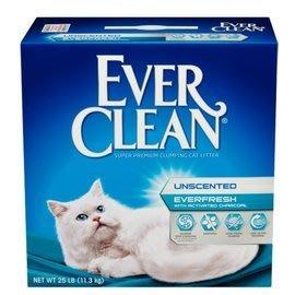 *COCO*藍鑽EverClean白標-雙重活性碳低過敏結塊貓砂25lb(強效除臭)超凝結礦砂/破碎粗砂/兩盒一件運費