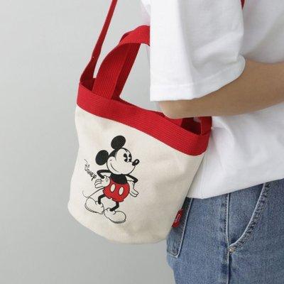 韓國可愛米奇米老鼠帆布包手拎托特包水桶包