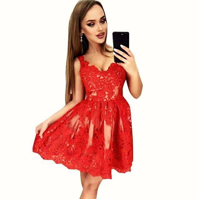 歐美蕾絲拼接細肩帶顯瘦洋裝 禮服 孫芸芸 關穎 小S  約會 伴娘 酒會 派對