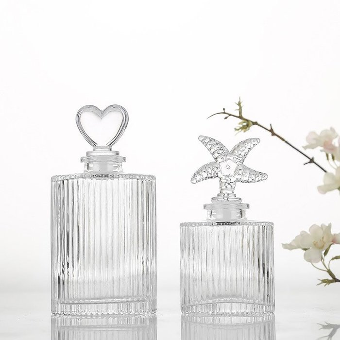 200ml直紋香薰玻璃瓶☆ VITO zakka ☆香氛香薰玻璃瓶