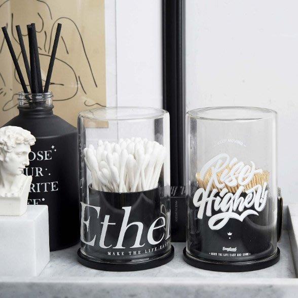 MAJPOINT*牙籤 棉花棒 不鏽鋼 收納罐 時尚經典 設計師款 簡約 北歐風 創意文具 工業風 美式 INS 置物盒
