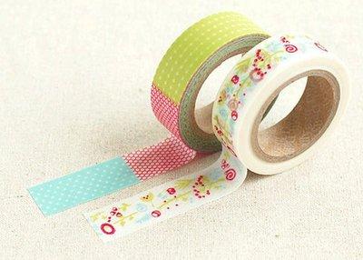 *YOOWOO*A【韓國空運 Decorate YOUR item 多功能裝飾 15mm 和紙膠帶 貼紙 ~ Fantasy 夢想】一組2入