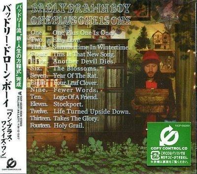 K - BADLY DRAWN BOY - One Plus One Is One - 日版 - NEW