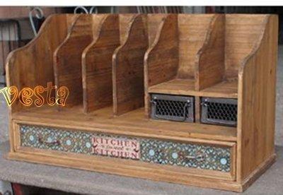 *Vesta 維斯塔*Loft美式鄉村工業風格桌型書架