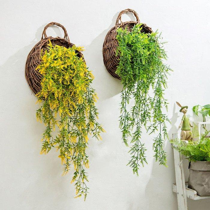 新品上市#美式創意仿真花植物壁掛陽臺餐廳墻飾墻壁房間臥室墻面裝飾品掛件