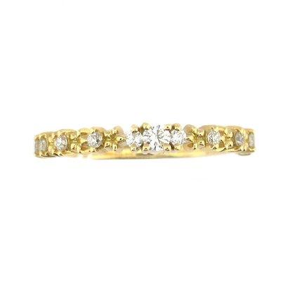 【JHT金宏總珠寶/GIA鑽石專賣】0.15ct天然鑽石線戒/材質:18K(JB45-A07)