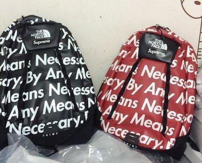 全新正品 美國 FW15 Supreme/TNF 聯名款 雙肩背包 BY ANY Means 防水