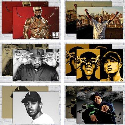 免運/最小尺寸任選5張唷唷50美分/Dmx/Dr. Dre/Ice Cub/JAY-Z/NAS/kendrick lamar 說唱海報