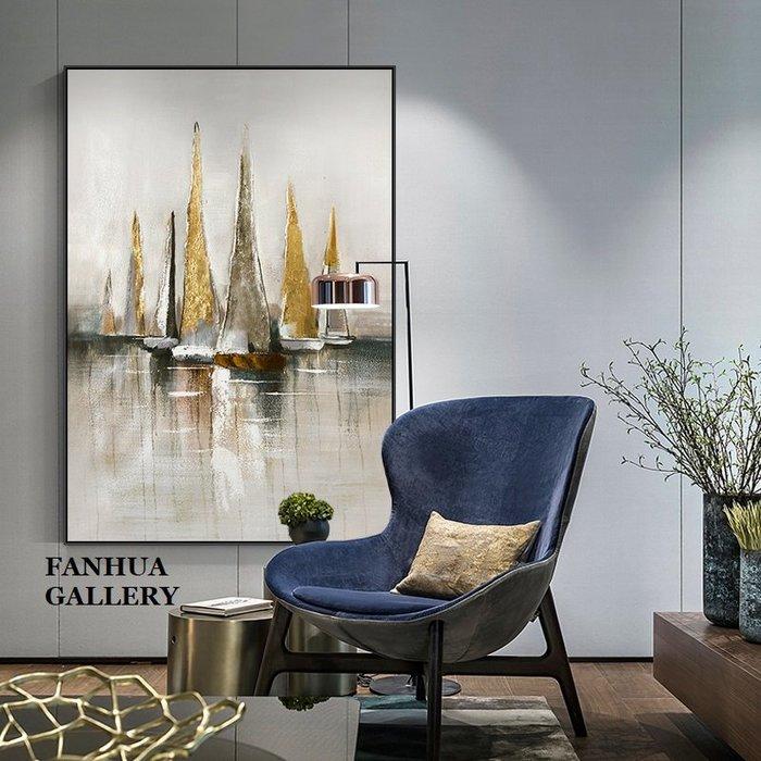 C - R - A - Z - Y - T - O - W - N 一帆風順抽象藝術掛畫公司接待室帆船油畫裝飾畫客廳梯口玄關掛畫商空住宅空間裝飾壁畫鋁合金框畫