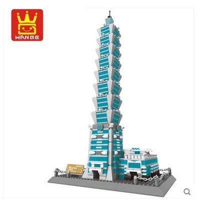 台北101大樓積木~世界著名景點積木系列~1511片~◎童心玩具1館◎