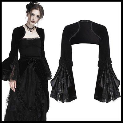 *MINI PUNK LOLO*黑暗哥德傳說-希維亞古堡夫人華麗暗紋蕾絲雕花喇叭袖哥德小外套(BW055)GOTHIC