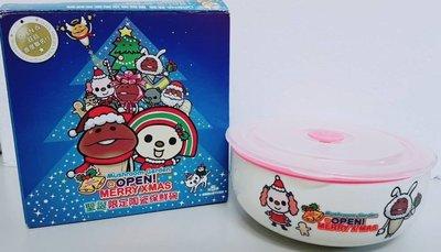 搬家清倉大拍賣-7-11聖誕限定陶瓷保鮮碗-小桃&白兔菇菇