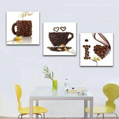 ZIHOPE 25MM厚 簡約現代飯廳掛畫客廳無框畫咖啡牆畫沙發背景藝術壁畫ZI812