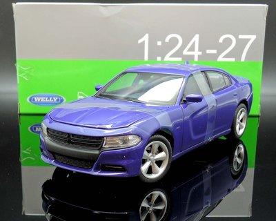 【M.A.S.H】[現貨特價] Welly NEX 1/24 Dodge Charger R/T 2016 藍紫