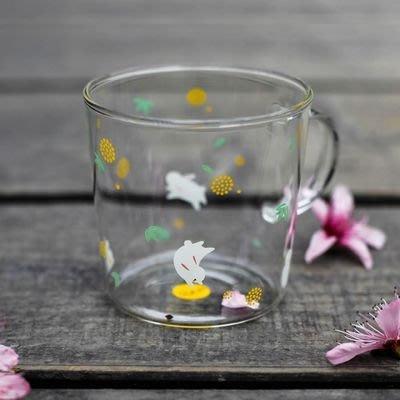 現貨 玻璃杯 馬克杯 白兔310ml tuuli耐熱玻璃杯 手工玻璃杯 啤酒杯 咖啡杯 星巴克 7-11  蛙蛙雜貨