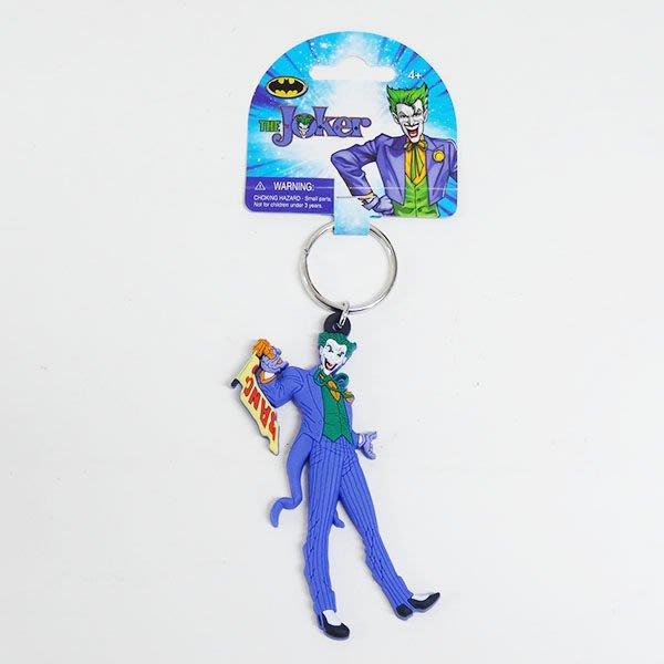 (I LOVE樂多)進口商品THE JOKER小丑 BRAND NEW 軟膠鑰匙圈 包包掛飾(送人自用兩相宜)