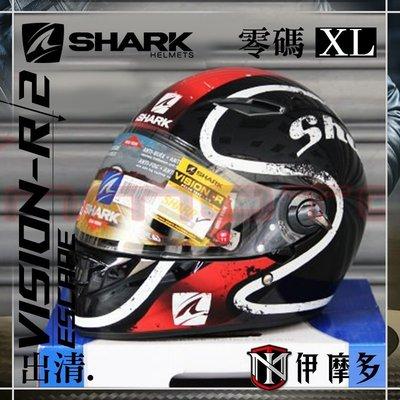 伊摩多※出清特惠XL 法國 SHARK VISION-R 全罩安全帽 內墨片 快拆鏡片 ESCAPADE 黑紅白 KRW