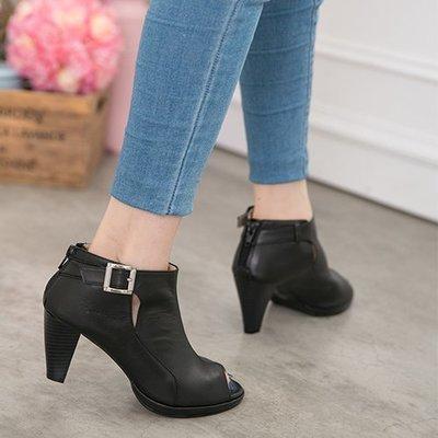 踝靴 遇見首爾魚口踝靴 小短靴 跟靴  丹妮鞋屋 台灣手工鞋