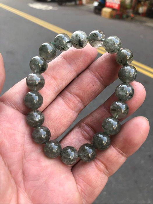 綠幽靈手珠,重:31.4公克,11mm
