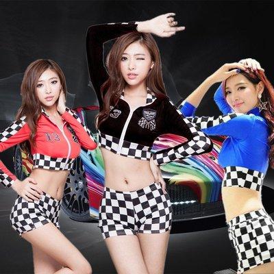 SG02 Racing girl 透氣冰絲 性感 兩件式 上衣+短褲 車模 車展 賽車女郎 SHOW GIRL JS服飾