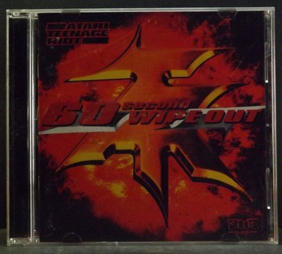 CD ATARI TEENAGE RIOT-60 SECOND WIPE OUT~Made in the UK~10DF