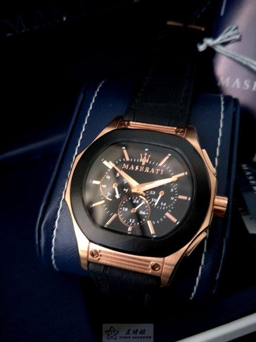請支持正貨,瑪莎拉蒂手錶MASERATI手錶TEMPRA款,編號:MA00048,黑色錶面黑色皮革錶帶款