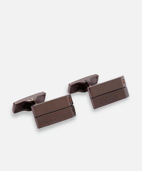 全新日本專櫃正品 TED BAKER 古銅金水鑽裝飾設計袖扣組 附專櫃盒裝 紙袋