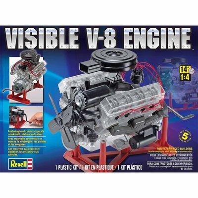 REVELL 1/4 Visible V-8 Engine Plastic Model Kit   V8 可動引擎模型