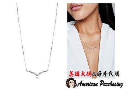 美國大媽代購 PANDORA 銀新款鑲鑽閃閃發光希望項鍊 925純銀 CHARMS 美國代購