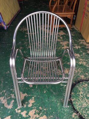 非凡二手家具 銀色全不鏽鋼休閒椅*布沙發*洽談沙發*辦公沙發*二手沙發*2手沙發*
