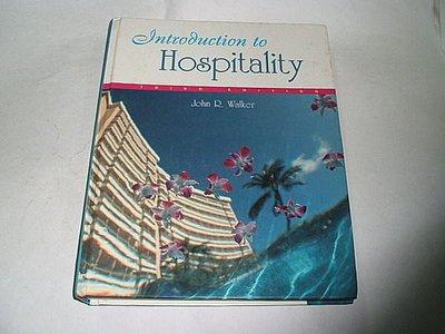 古集二手書 ~Introduction to Hospitality 3e John R.Walker 0130336602