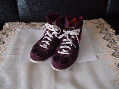 nike 紫色半高筒運動鞋 休閒鞋