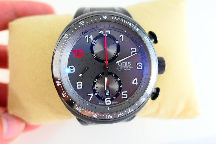 [吉宏精品交流中心]ORIS 豪利時 77476117784 灰面 膠帶 限量 計時碼錶 男錶