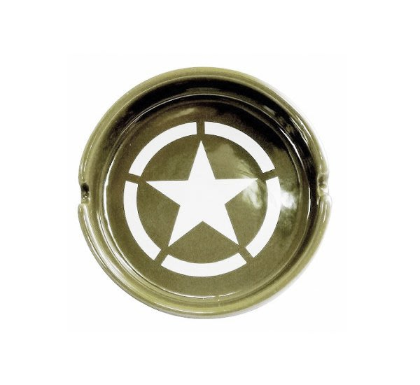 GOODFORIT / 日本家飾Airyusha Co, 陸軍基地煙灰缸(103×30mm)