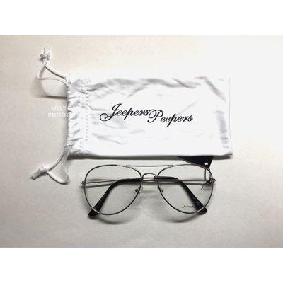 Jeepers Peepers 英國品牌 透明鏡框 眼鏡 銀色 金屬 基本款 抗uv400 鏡片 英國帶回