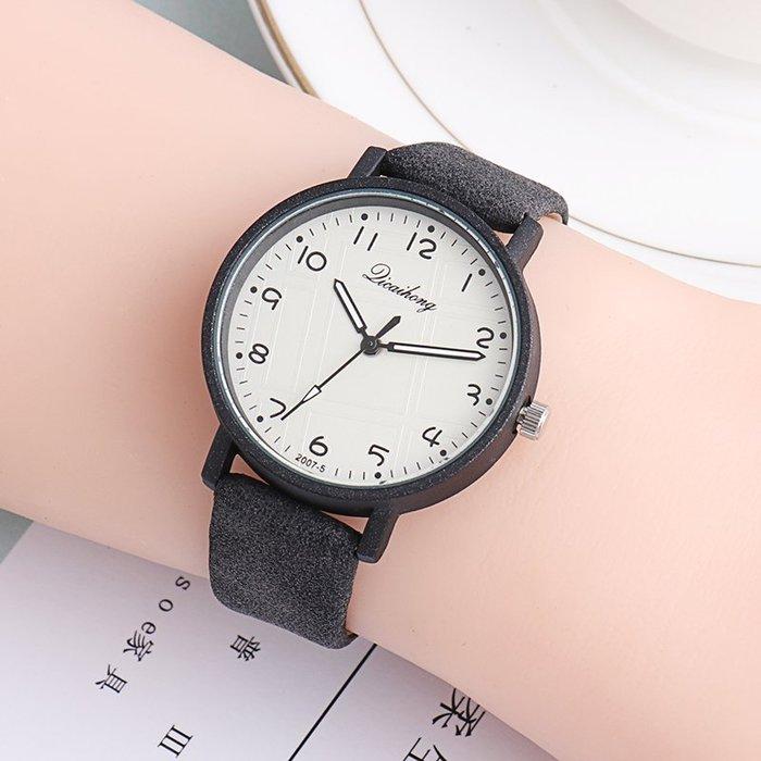 現貨/正韓數字 復古潮流兒童手錶女孩男生中小學生防水電子石英錶皮196SP5RL/ 最低促銷價