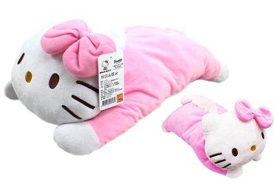 【卡漫迷】 Hello Kitty 面紙套 粉 趴姿 ㊣版 絨毛 娃娃 面紙盒 桌上型 玩偶 抱枕 裝飾 凱蒂貓 造型日
