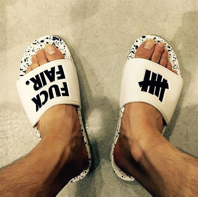 美式潮牌情侶家居拖鞋男女夏防滑厚底沙灘UNDEFEATED 拖鞋
