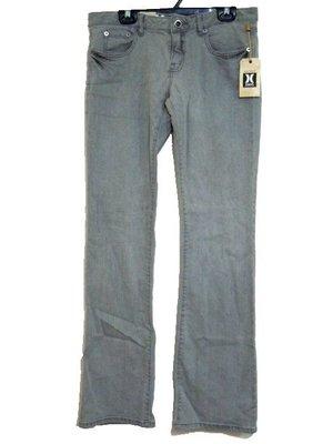 【女裝Hurley衝浪品牌牛仔丹寧低腰長褲jeans,全新商品灰色款27/3號】371一元起標BOOTCUT FIT
