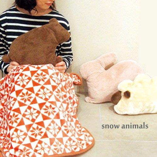 *Dou Dou House*日本進口動物雪毯毛毯/毯子/ 靠墊 -三款 (現貨)