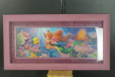 小美人魚 木質大框