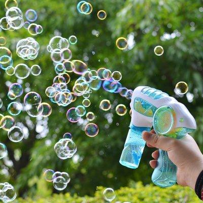 hello小店-泡泡機泡泡槍玩具 兒童手動慣性不漏水七彩電動補充液吹泡泡水棒#兒童玩具#泡泡機#吹泡泡#