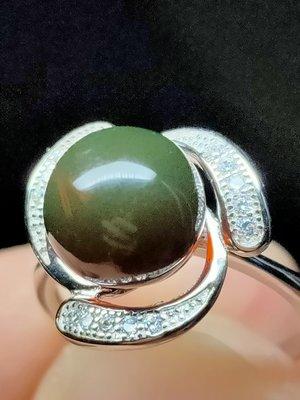 [和叡堂] 天然原礦琥珀 緬甸琥珀最稀有最貴的珀種 紅茶綠膜變色龍戒指 保證天然原礦