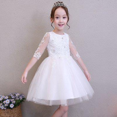 【衣Qbaby】Mi女童鋼琴演奏畢業典禮生日宴會公主禮服
