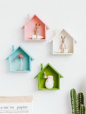 賓士印象~田園創意ins美式壁掛房子墻面裝飾品家居臥室兒童房飾品墻壁掛件